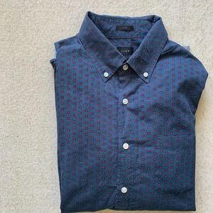 J. Crew Men's Floral Button Up Shirt L Slim Fit